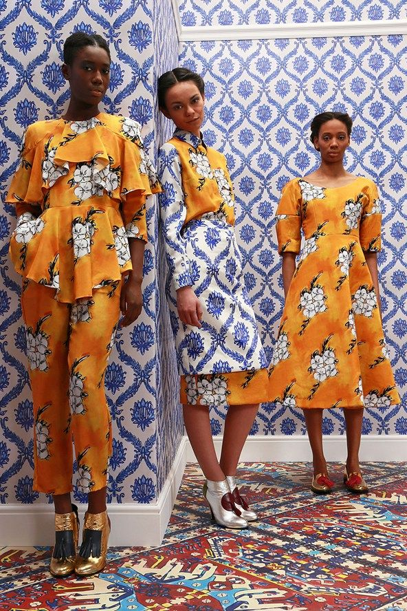 Tata Naka Fall 2014 I like the style of that yellow top! Interesting pattern designs