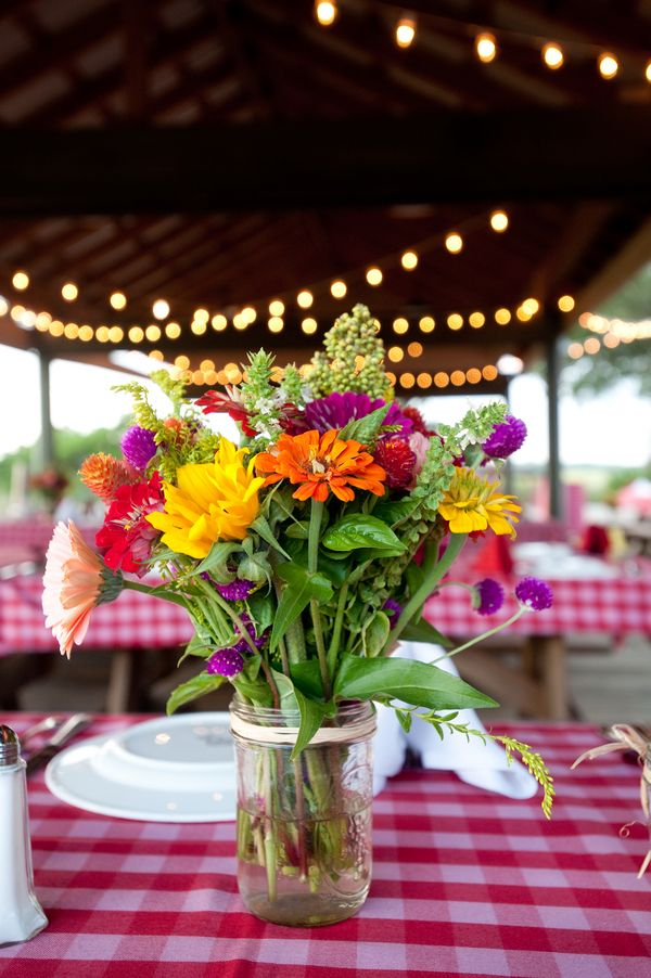 wildflower centerpieces