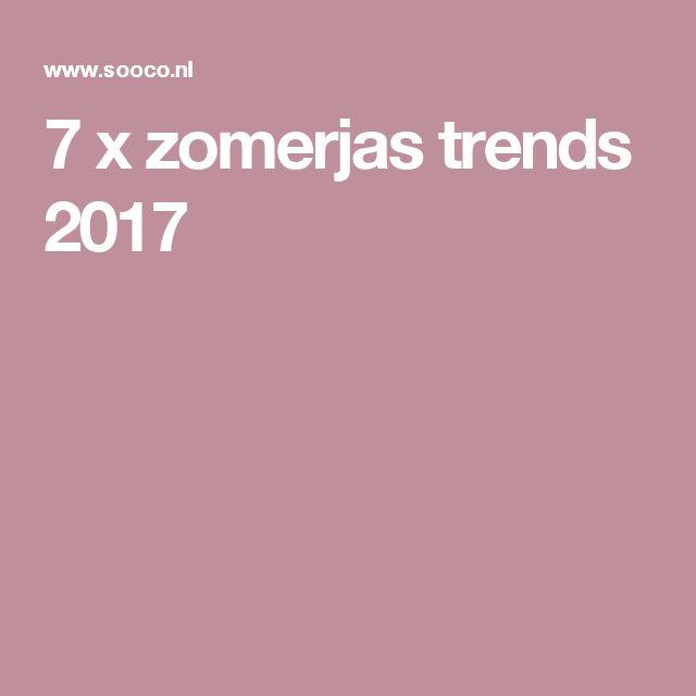 7 x zomerjas trends 2017