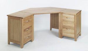 Corner Office Desk Oak