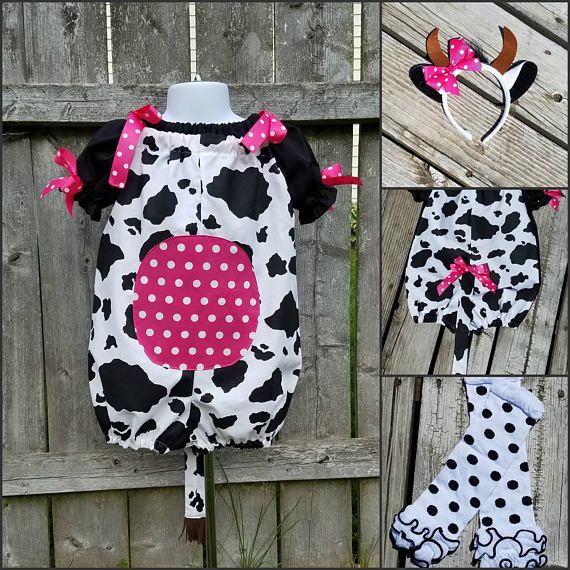 Cow Costume Toddler Cow Costume Infant Cow Costume