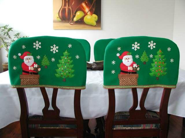 decoración navideña interesante para asientos
