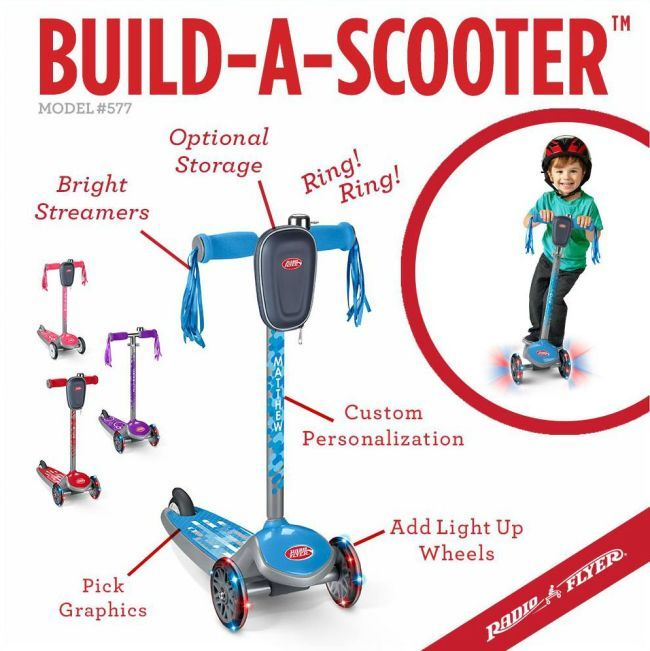 Radio Flyer Build-A-Scooter | create a custom scooter with light up wheels