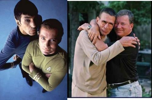 Shatner and Nimoy <3 Friends Forever