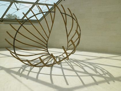 Richard Deacon Untitled, 1980 Laminated wood and rivets 300 x 290 x 290 cm Acquisition 1996 Collection Mudam Luxembourg