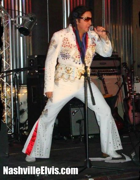 Nashville Elvis Impersonator Chuck Baril at Back Stage Nashville.