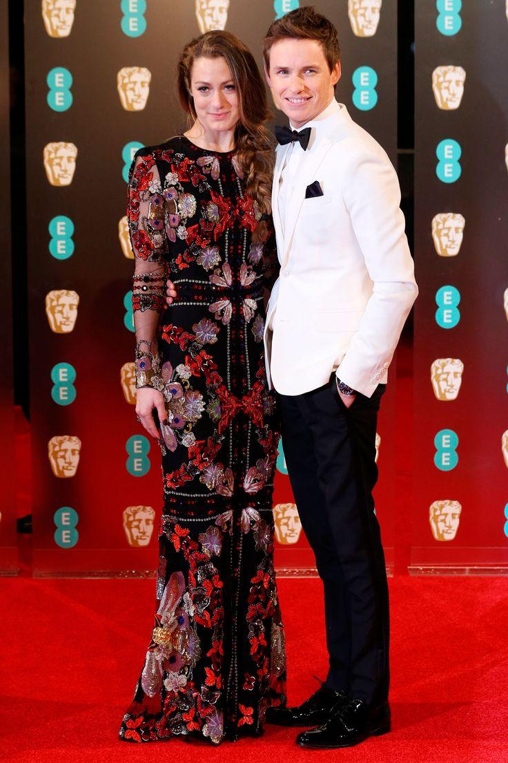 Eddie Redmayne walked the red carpet with wife Hannah Bagshawe, in Alexander McQueen