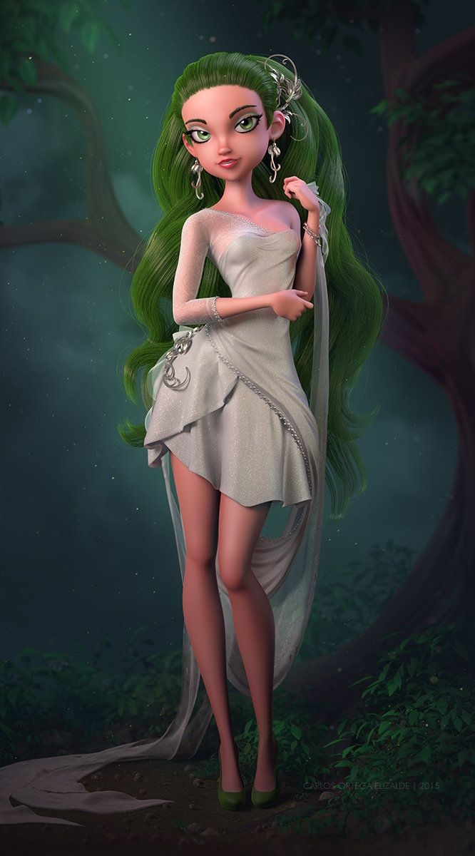 Green Morning, Carlos Ortega Elizalde on ArtStation at https://www.artstation.com/artwork/green-morning