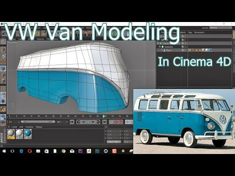 Cinema 4D Modeling a vintage Volkswagen Van - YouTube