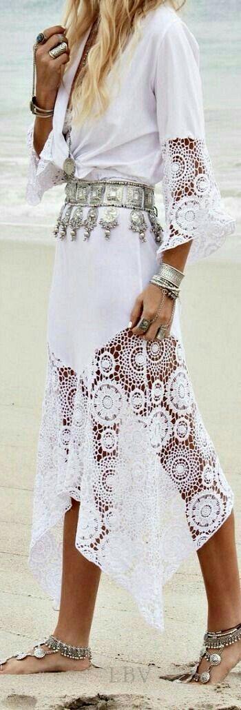 #vestido #mangas #oxford #Broderi