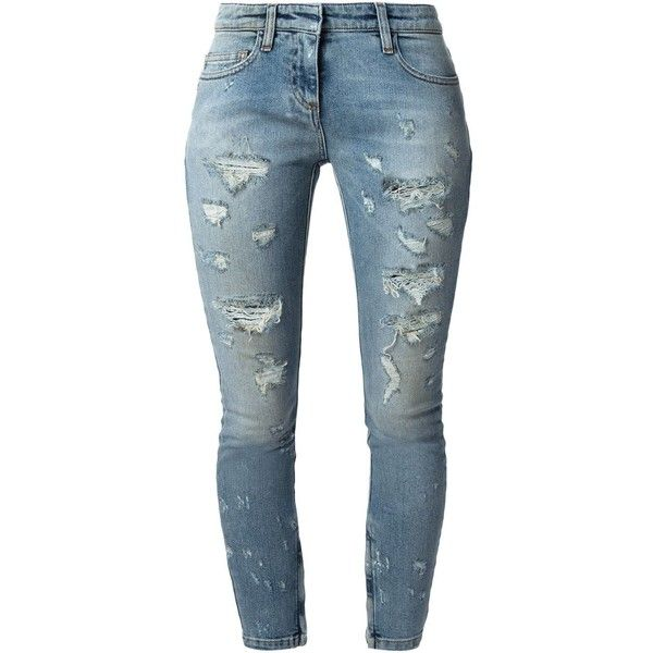 Faith Connexion distressed cropped slim jeans (£140) ❤ liked on Polyvore featuring jeans, pants, bottoms, pantalones, pants/leggings, blue, cropped skinny jeans, blue ripped jeans, blue jeans and slim jeans