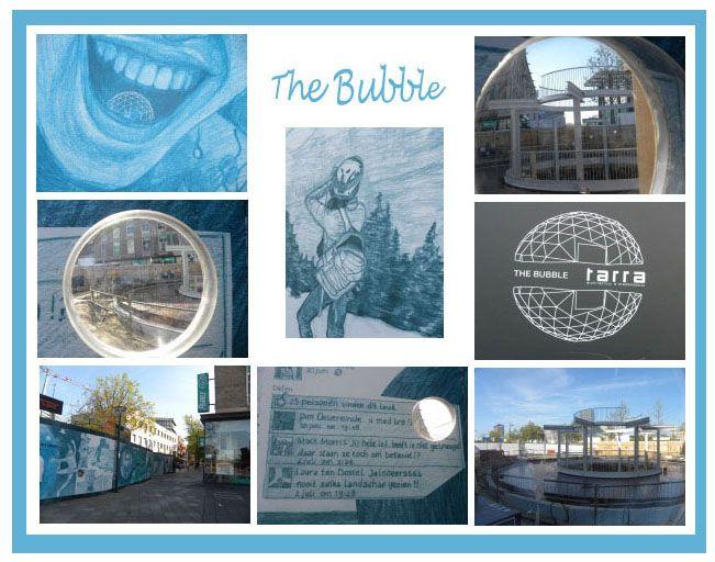 The Bubble in wording, 18 septemberplein / Hermanus Boexstraat