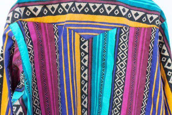 Vintage Wrangler South Western Shirt by NotMadeInChinaFinds