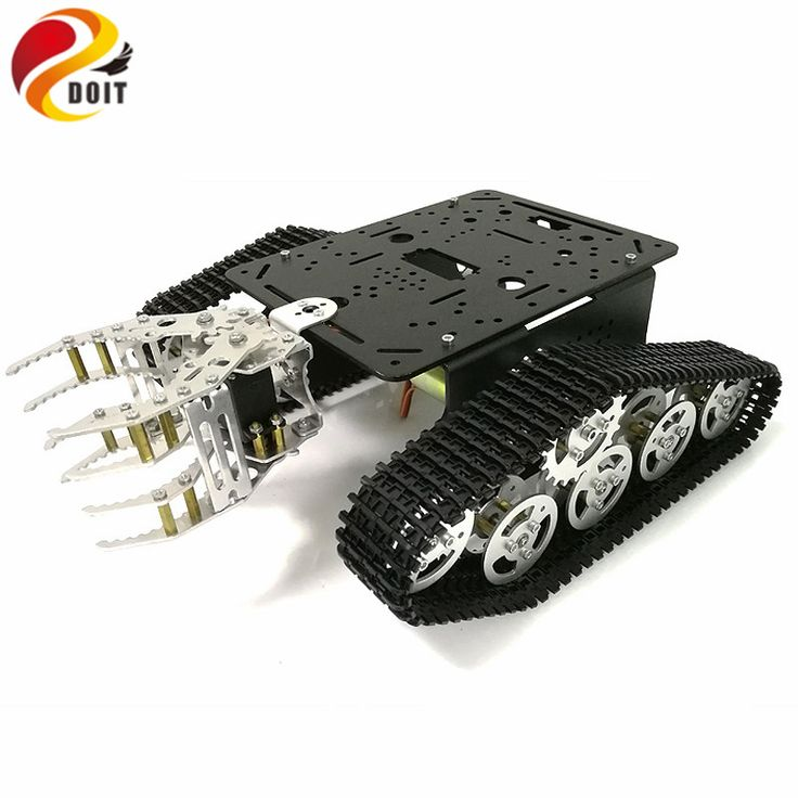 Check Price DOIT Tank Chassis with Mechanical Claw, Tracked Chassis with Gripper, Tracked Vehicles, Tank Robot,RC Tank for DIY Robot Project #DOIT #Tank #Chassis #with #Mechanical #Claw #Tracked #Gripper #Vehicles #Robot #Project