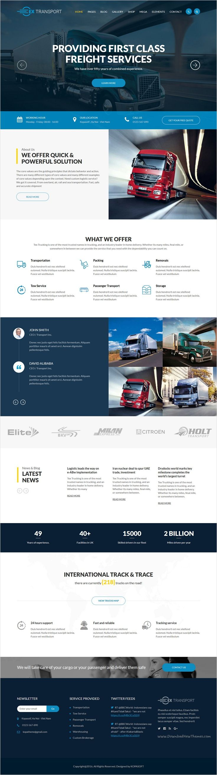 Extransport is beautifully design 3 in 1 #bootstrap HTML #template for #cargo logistics or transportation company websites download now➩ https://themeforest.net/item/extransport-logistic-html-template/17405067?ref=Datasata