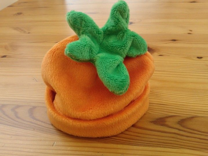 Pumpkin hat hand made from Minky for a new born :)