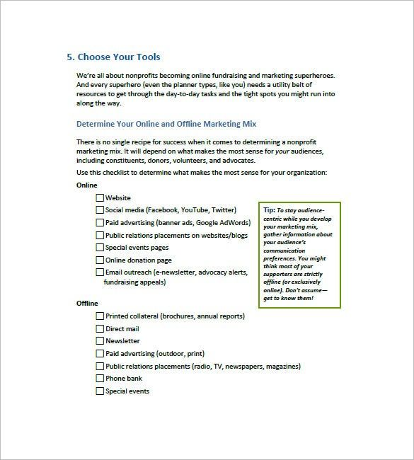Sample Non Profit Business Plan Template In 2021 Marketing Plan Template Nonprofit Marketing Plan Business Plan Template