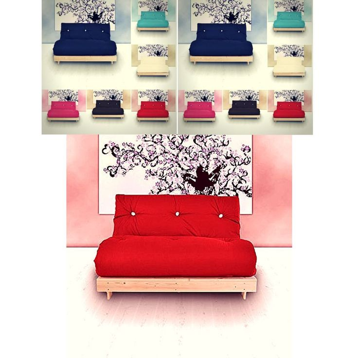 Small Double Sofa Bed Living Room Furniture Discount Couch 2 Seater Vintage Red
