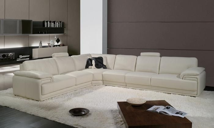 Free Shipping French Style Furniture 2013 Latest Modern Design Large L Shaped Genuine Leather Corner Sofa Fr Sofa Design L Shaped Sofa Designs Modern Sofa Set