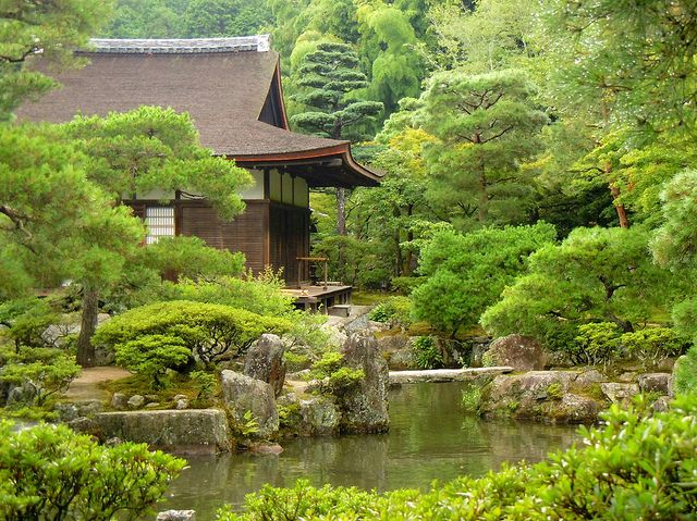 Kyoto tea house in the forest by Germán Vogel, via Flickr