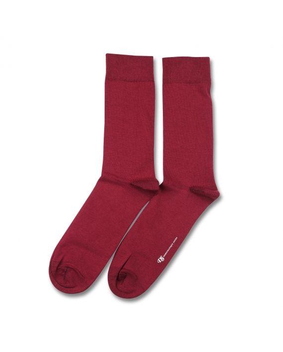 Democratique Socks Originals Solid Red Wine
