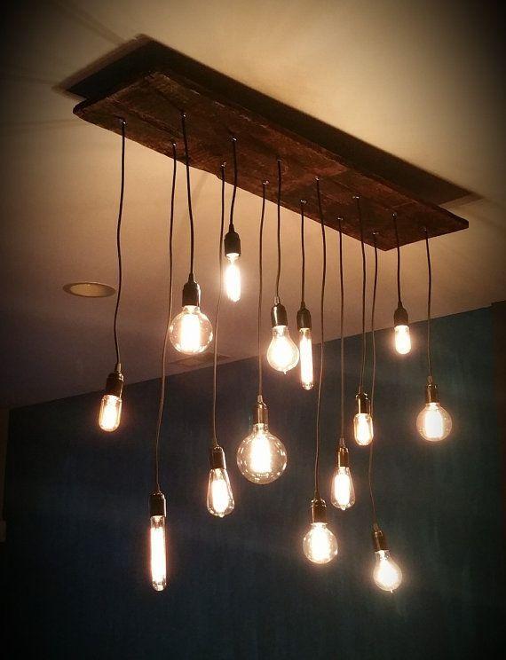 Modern Wood Chandelier 14 Pendant Lights Urban Loft Chandelier