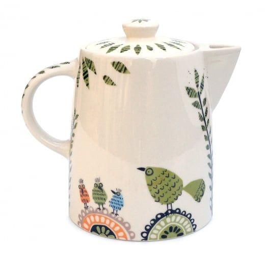 Hannah Turner Birdlife Ceramic Teapot | Hurn and Hurn
