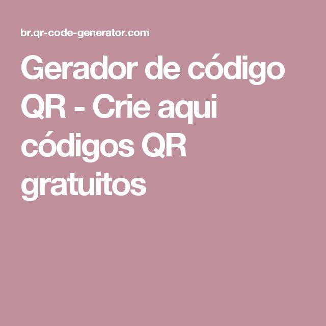 Gerador de código QR - Crie aqui códigos QR gratuitos