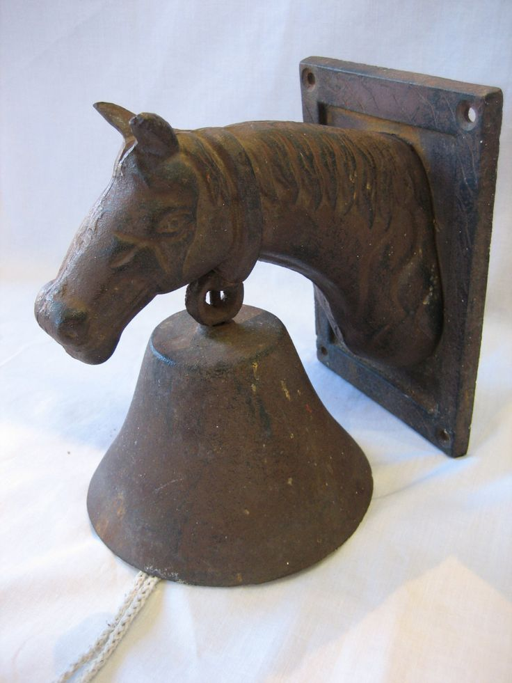 Estate Antique Cast Iron Horse Head Dinner Bell | Dinner ...
