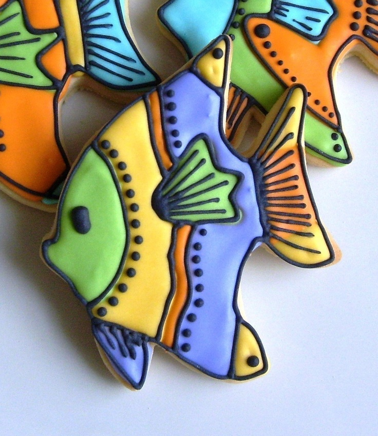 Tropical Fish Decorated Cookie