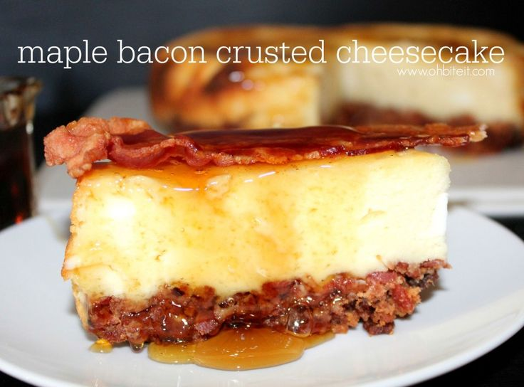 ~Maple Bacon Crusted Cheesecake! | the bottom crust is crumbled bacon