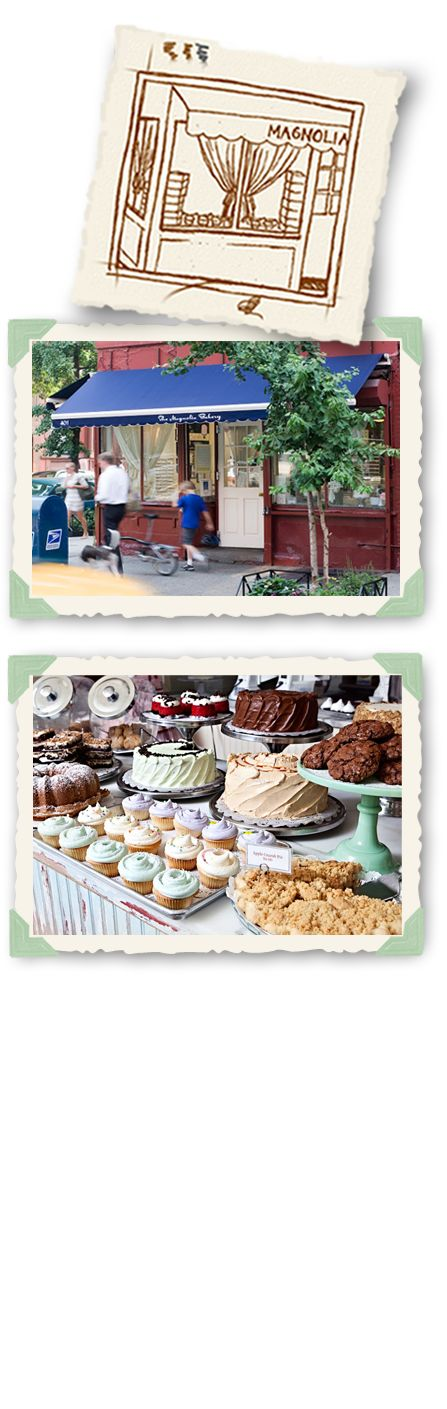Magnolia Bakery locations are 401 Bleeker @ West 11th St Village; Bloomingdales 1000 Third Ave between 59th/60th; 200 Columbus Ave @ 69th; Grand Central Terminal; Rock Center 1240 Ave of Americas corner 49th and Sixth Ave