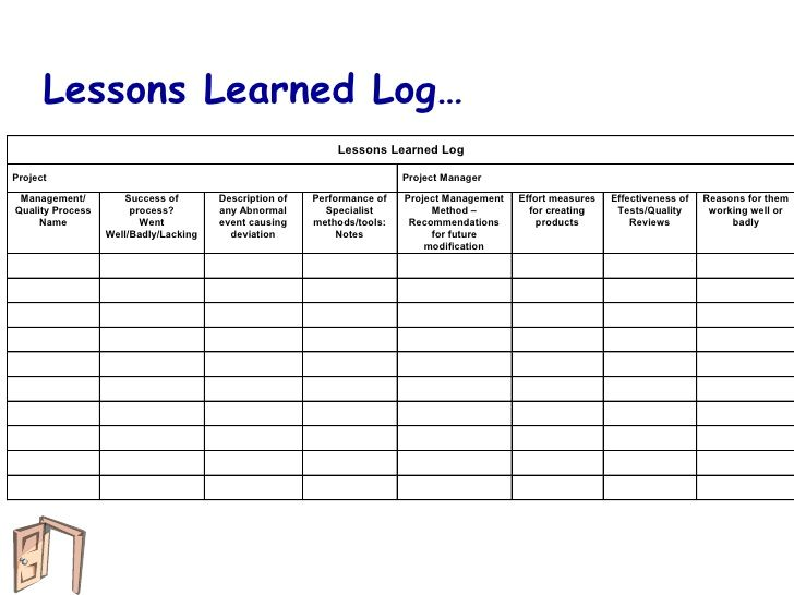 Image Result For Lessons Learned Register Lessons