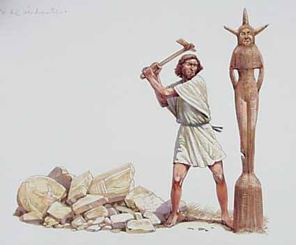 "Question: ""What is an Asherah pole?""  Answer: An Asherah pole was a sacred tree or pole that stood near Canaanite religious locations to honor the pagan goddess Asherah, also known as Astarte. While the exact appearance of an Asherah pole is somewhat obscure, it is clear that the ancient Israelites, after entering the land of Canaan, were influenced by the pagan religion it represented.  In the Bible, Asherah poles were first mentioned in Exodus 34:13, Deuteronomy 7:5 and 12:3"