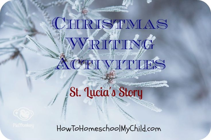 christmas writing activities - st lucia day story writing