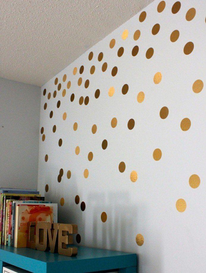stickers muraux pas chers: décoration murale à pois