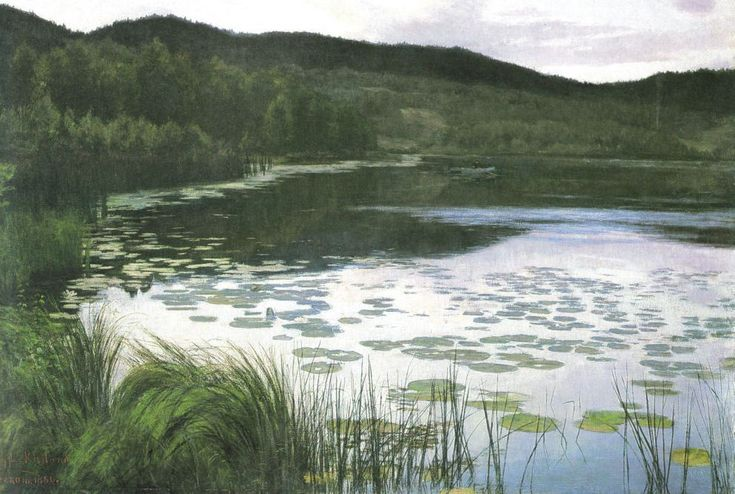 Kitty Lange Kielland : Sommernatt, 1886