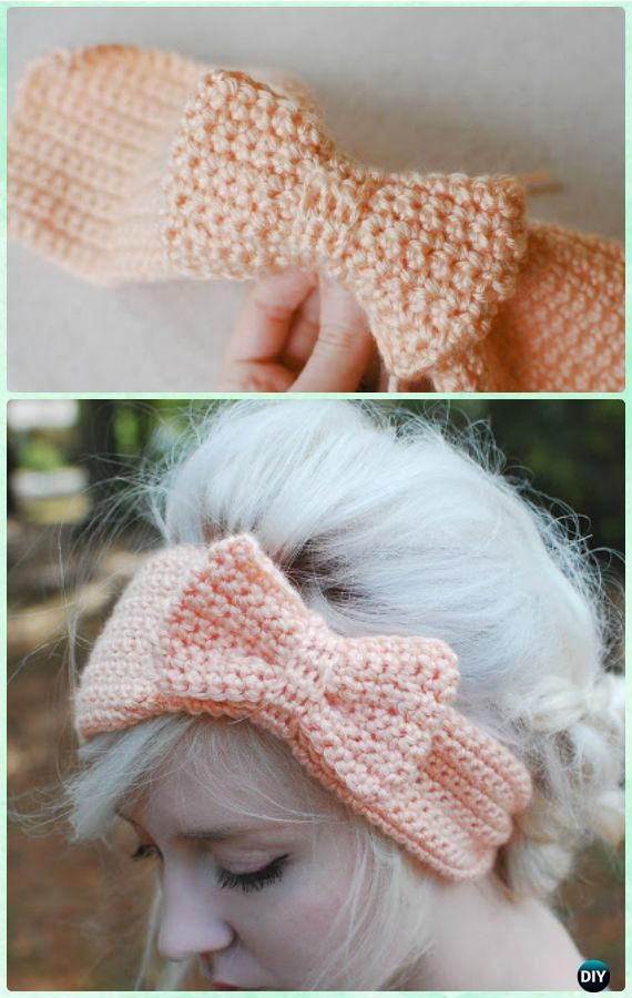 Crochet Single Stitch Bow Free Pattern - Crochet Bow Free Patterns