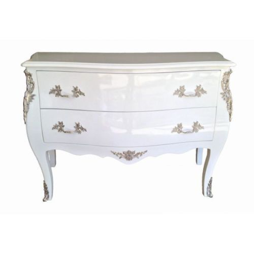 French Louis XV Style White Chest Commode Affordable Luxury   eBay