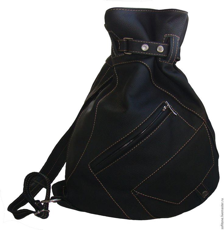 Купить Рюкзак-мешок на одной лямке Черный - цветной рюкзак, городской рюкзак, мужской рюкзак