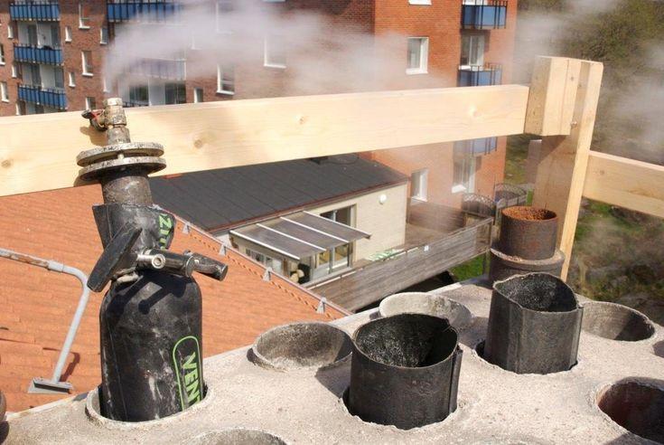 FuranFlex installed in leaking ventilation ducts in Stockholm, Sweden