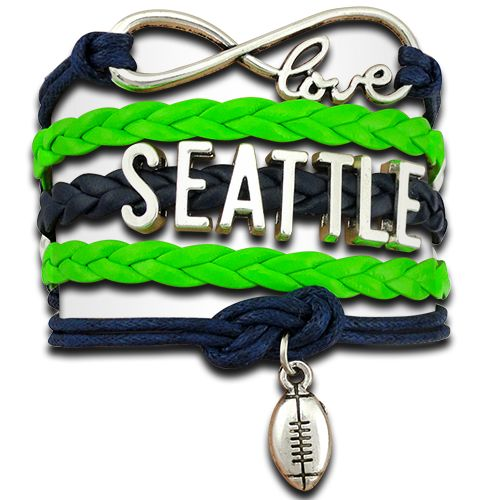 Super cute Infinity Love Seattle Football bracelet.  Free plus shipping.