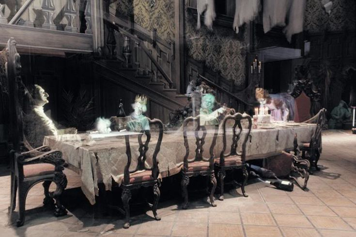 Haunted Mansion ~ Dinner table in Ballroom