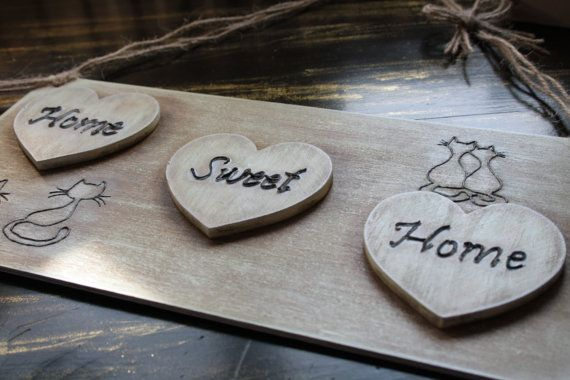Home Sweet Home wood plaque by UniqueItemsMBA on Etsy