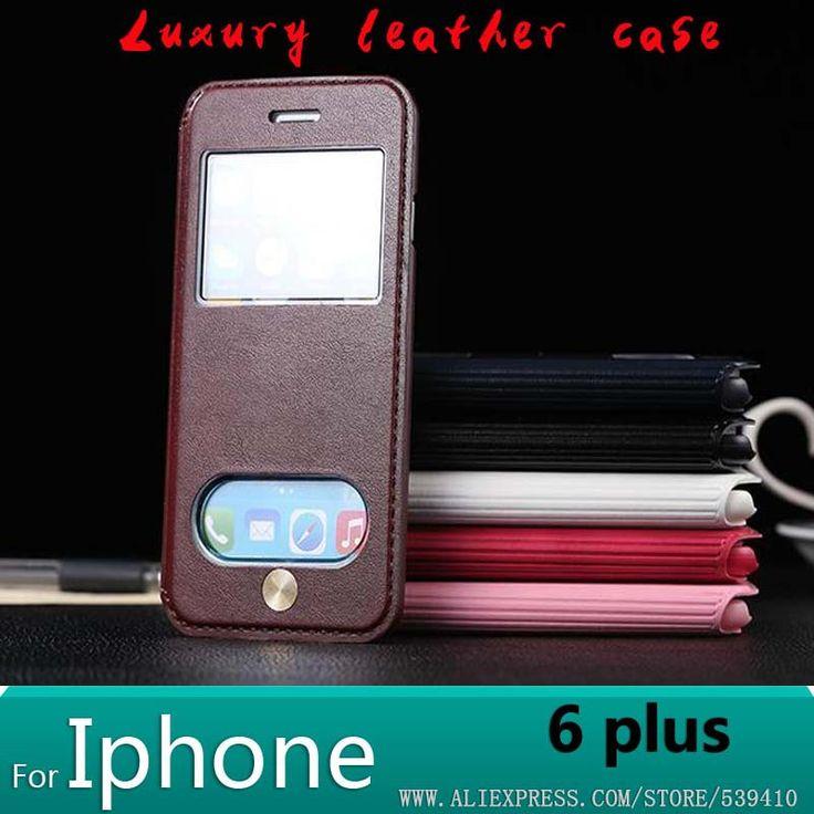 Чехол чехол для iphone 6 большой 5,5 дюйма кожа, для iphone 6 большой чехол роскошь чехол чехол для apple iphone 6 большой 5,5 телефон чехол чехол + экран защитные