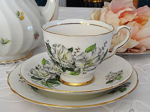Royal Stafford English Bone China cup set for hire highteahire.co.nz