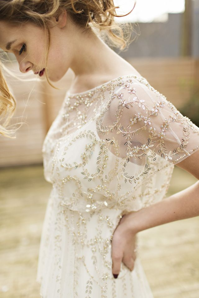 Jenny Packham beaded wedding dress | Courtney Bowlden Photography | see more on:  http://burnettsboards.com/2015/04/burgundy-gold-wedding-ideas/