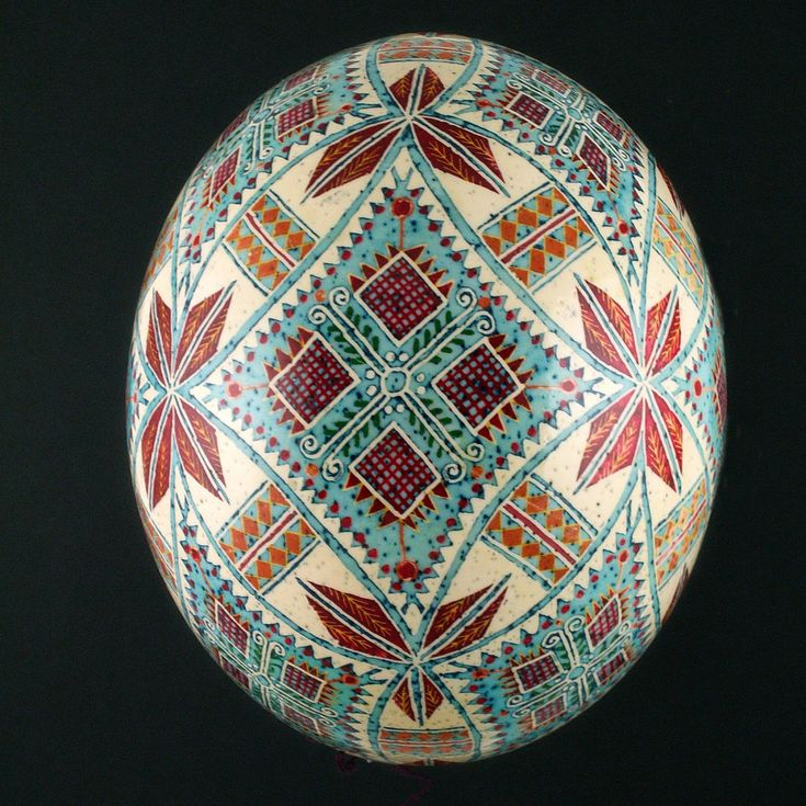 Pysanky Ukrainian Hand Decorated Ostrich Egg