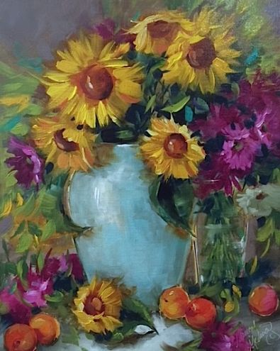 Le Affair to Remember and French Apricots and Sunflowers -- Nancy Medina