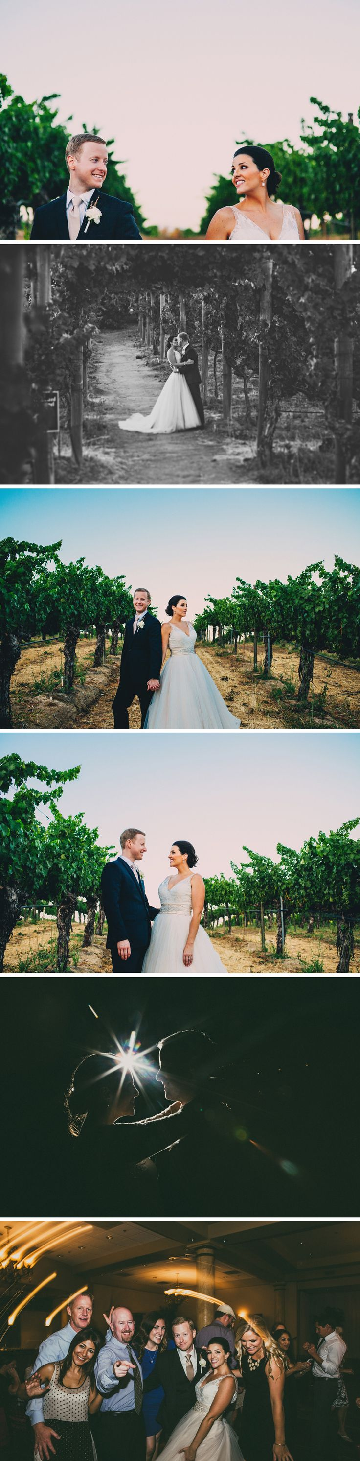 Temecula Wilson Creek Winery Wedding   Rock This Moment Photography. I love the black and white picture in the vineyards!